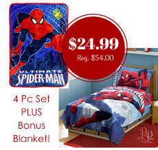 Spongebob Toddler Bedding Set by Spiderman Toddler Bedding Set Plus Bonus Blanket For 24 99