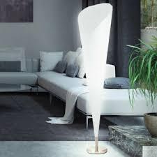 details zu moderne design standleuchte nickel stehleuchte stehle wohnzimmer rund weiss