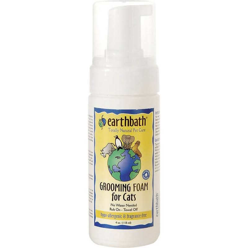 Earthbath Hypo-Allergenic Grooming Foam for Cat - 4oz