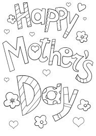 Click To See Printable Version Of Happy Mothers Day Doodle Coloring Page