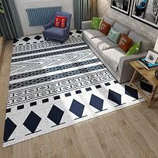 cqq teppich nordic style einfaches wohnzimmer teppich moderne mode schwarz und weiß geometrischen couchtisch schlafzimmer bedside teppich matten