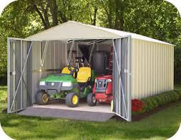 Metal Loafing Shed Kits by Arrow 10x20 Commander Metal Storage Shed Kit Chd1020