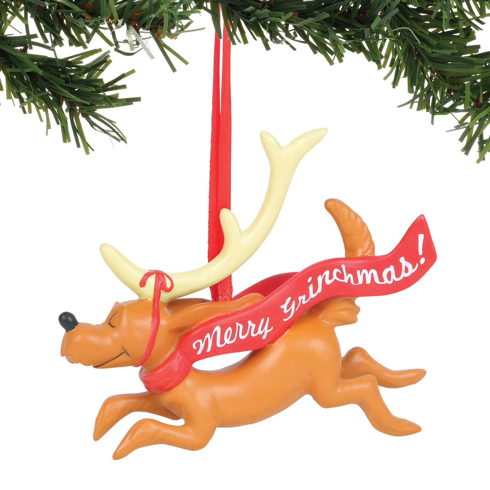 Grinch - Max with Banner Ornament