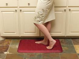 Padded Kitchen Floor Mats by Kitchen Room Rug In Front Of Refrigerator Kitchen Anti Fatigue