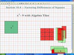 algebra tiles factoring factoring squares help in high school math algebra