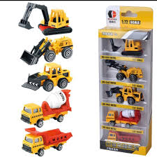 100 Construction Trucks 3pc Cake Topper Excavator Crane