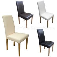 Faux Leather Dining Chairs Black Brown Cream Grey Or White ... Cream Faux Leather Ding Chair With Curved Leg Crossley Single Adela Maple And Lpd Padstow Chairs Pair Brown Or Red Faux Leather Ding Chairs Antique Vintage Button Stud Detail Pack Of 2 Table Seat Set Bolero Tan Mark Harris California Simpli Home Cosmopolitan 9piece 8