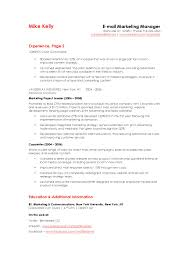 Email Marketing Manager Resume Example