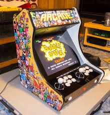 Mame Arcade Bartop Cabinet Plans by Pixel Art Themed Bartop Arcade Arcade Punks
