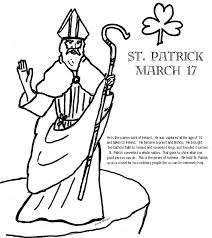 Saint Patricks Coloring Pages St Patrick Page Church Of The