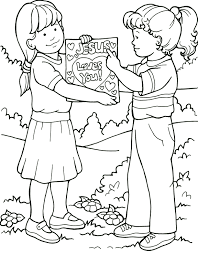 Best Friends Coloring Pages 40 For Kids Online With