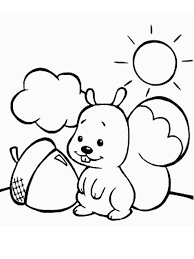 Squirrel Animals Coloring Pages