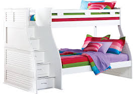 Belmar White 4 Pc Twin Full Step Storage Bunk Bed Bunk Loft Beds