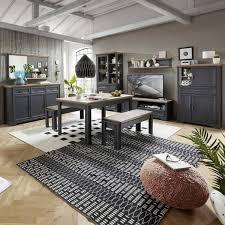 edle wohn und esszimmer set jülich 36 artisan eiche nb und graphit grau inkl led