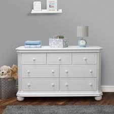 Baby Changing Dresser With Hutch by Sorelle Vista Elite 7 Drawer Dresser White Babies