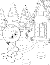 Free Gingerbread House Coloring Pages To Print 2