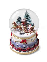 Thomas Kinkade Christmas Tree Village by Christmas Town Around The World Snow Globes