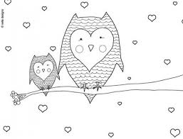 Owl Valentines Day Coloring PagesHappy Mom Pages Holiday Ideas