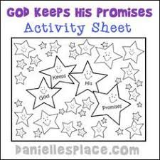Abraham God Keeps His Promises Activity Sheet For Sunday School From