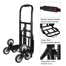 100 Hand Truck Stair Climber HAOFY SOLID RUBBER TIRES440LBS Barrow