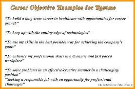 Objectives On A Resume Samples Career Objective For Sample Change