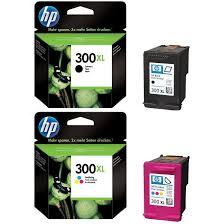 Original HP 300XL Black Colour Combo Pack High Capacity Ink Cartridges CC641EE UUS