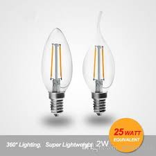 2w 4w 6w dimmable led filament candle bulb c35 c35t type led bulb