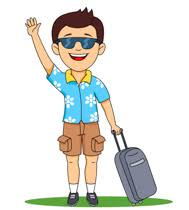 Travel Agent Sitting At Desk Holding Tickets Clipart Size 170 Kb From