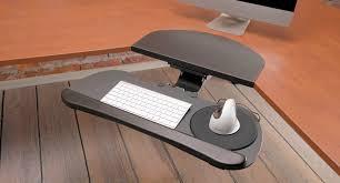 Cpu Holder Under Desk Mount Small by Large Keyboard Tray Shop Uplift Desk