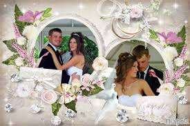 cadre photo mariage gratuit montage photo cadre mariage avec diapola