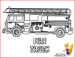 Satisfying Fire Truck Coloring Page 10 - Coloring Paged For Children