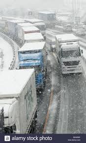 100 Trucks In Snow Highway N1 Stock Photos Highway N1