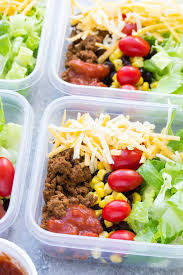Meal Prep Taco Salad Lunch Bowls That You Can Make Ahead These Easy Salads