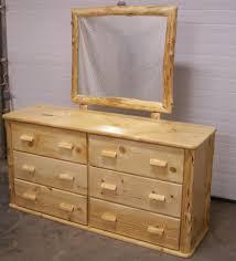 custom made knotty pine six drawer dresser by fbt sawmill custom