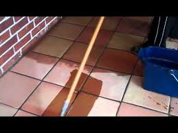 Saltillo Tile Sealer Exterior by How To Seal Terracotta Tile Part 1