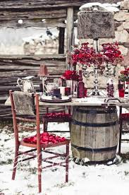 12 Original Winter Table Decor Ideas Amazing Outdoor With Rustic Chairs Door
