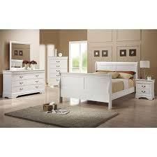 louis philippe sleigh bedroom set white coaster furniture