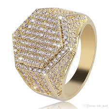 100 Where Is Dhgate Located Mens Ring Vintage Hip Hop Jewelry Zircon Iced Out Copper Rings