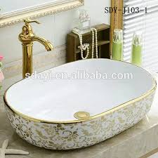 keramik gold farbe waschbecken badezimmer luxus gold farbe design waschen lavabo becken buy lavabo becken gold becken gold farbe waschbecken product