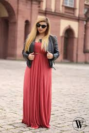 maxi dress and leather jacket pinterest leather