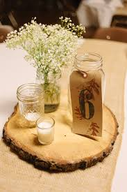 Rustic Fall Wedding Table Centerpieces