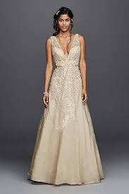 Long A Line Vintage Wedding Dress