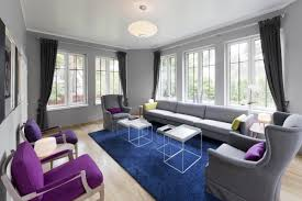 Grey And Purple Living Room Pictures by Luxury Purple Accent Chairs Living Room Designs Ideas U0026 Decors