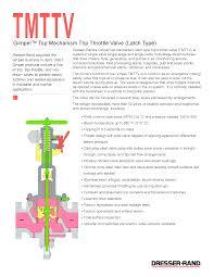 Dresser Roots Blower Manual by Dresser Rand Tmttv Trip U0026 Throttle Valve Documents