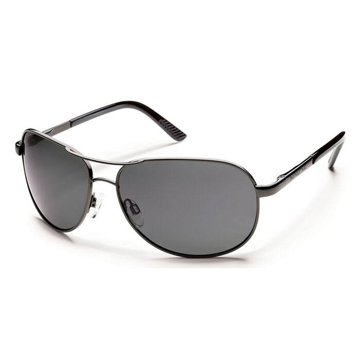 Suncloud Optics Men's Aviator Sunglasses - Gunmetal, with Polarized Lens