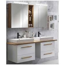 badmöbel set doppel waschtisch weiß landhaus led