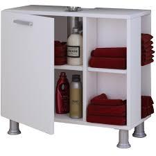 vcm bad unterschrank waschtisch waschbeckenunterschrank badunterschrank schrank möbel clevaso 50 x 60 x 29 cm badezimmer regal weiß weiß