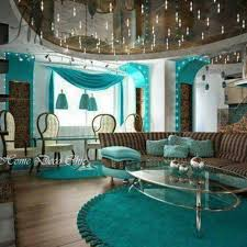 teal and brown living room modern house