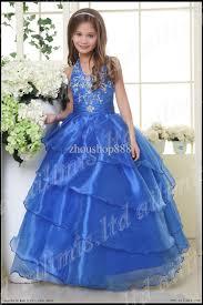 stunning halter kids pageant dress bridesmaid dance party