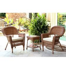 Kirklands Outdoor Patio Furniture by Blue Barclay Brown Wicker Rocker U0026 Table Set Of 3 Kirklands